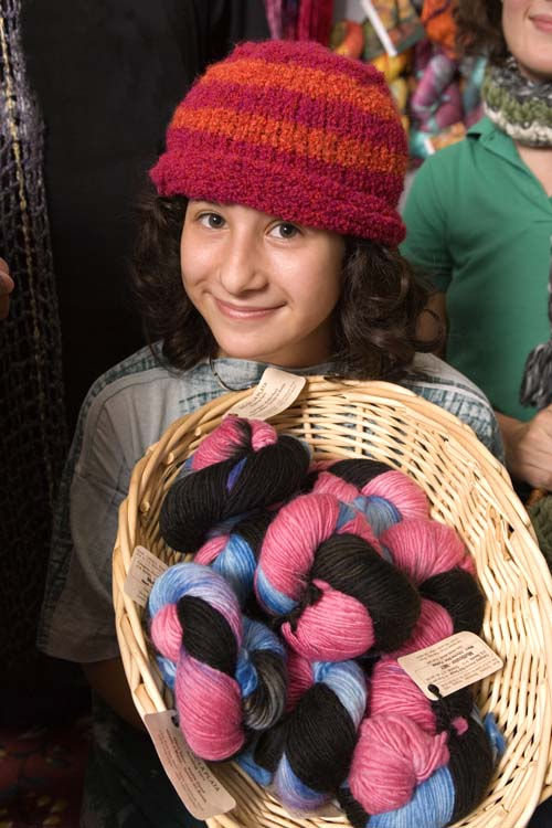 picture of lily holding yarn